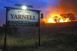 The town of Yarnell, Arizona is under threat from wildfires which are blazing across the State