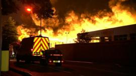 Fire at Smethwick factory