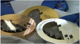 Finished Winter Olympic medals