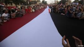 Protesters opposing Egyptian President Morsi