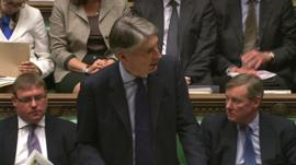 Philip Hammond making his statement in the House of Commons