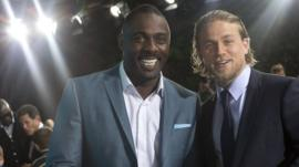 Pacific Rim's Idris Elba and Charlie Hunnam