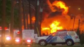 Lac-Megantic train explosion fire