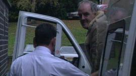 Peter Moore arriving at court for sentencing