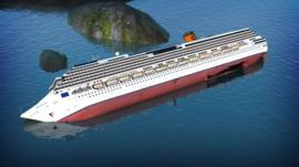 Costa Concordia graphic