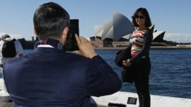 Chinese tourists, Sydney