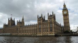 General view of the Houses of Parliament from the River Thames.
