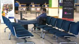 Man in Durham Tees Valley Airport