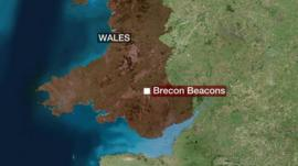Brecon Beacons map
