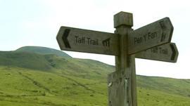 Brecon Beacons sign