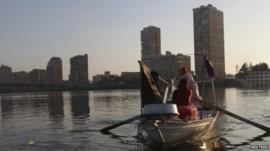 Fishing boat on the Nile