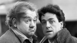 File photo dated 15/05/1987 of comedians Mel Smith (left) and Griff Rhys Jones. Smith has died from a heart attack at his home in north west London, his agent Michael Foster has said