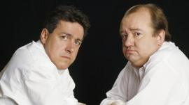 Griff Rhys Jones and Mel Smith