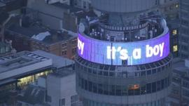 BT Tower with the words