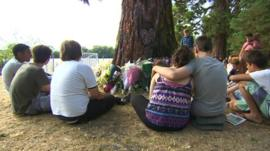 Classmates of Martha Fernback gather at Hinksey Park