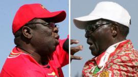 Morgan Tsvangirai and Robert Mugabe