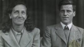 Dulcie and Bill Joslin on their wedding day in 1943