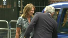 Carole and Michael Middleton getting into a taxi