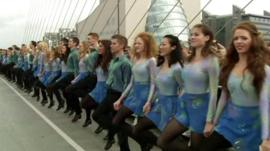 Riverdance line of dancers in Dublin