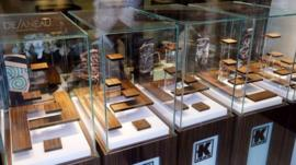 Empty watch cases in the Kronemetry store robbed in Cannes, 31 July