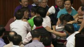 Members brawling