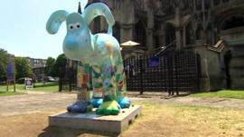 Gromit art trail in Bristol