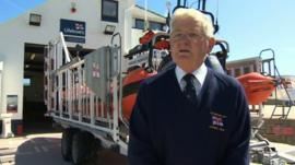 Alf Pritchard of the RNLI Trearddur Bay