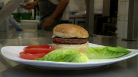 The lab made burger