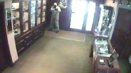 CCTV image of the robbery