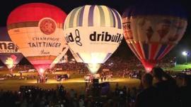 Bristol balloon fiesta night glow