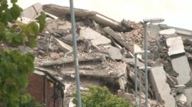 demolished Hull tower block