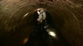 Inside a sewer