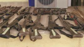Weapons in Nigeria - file image
