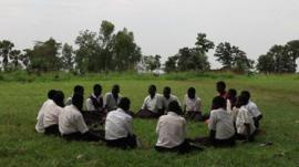 Former child soldiers attending a workshop