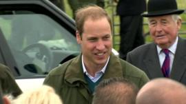 Prince William in Anglesey
