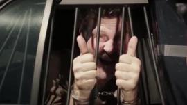 An actor who plays an arrested criminal in a Hillsboro Police Department recruitment video