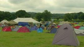 Field of tents
