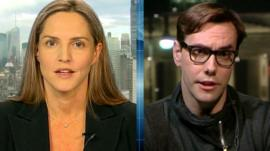 Former Conservative MP Louise Mensch and computer hacker Jacob Applebaum
