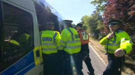 Arrest at Balcombe