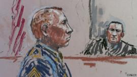 Court sketch of Robert Bales