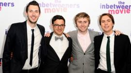 Blake Harrison, Simon Bird, James Buckley and Joe Thomas