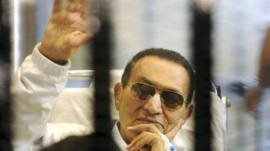 Hosni Mubarak in court in April 2013
