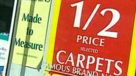 Sign for discount carpets