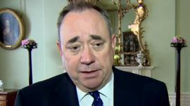 Scottish First Minister Alex Salmond