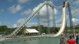 Oakwood log flume