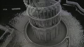 A preliminary 3D laser scan of the interior of the Tower of Pisa