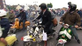 International Scooter Rally on the Isle of Wight