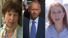 The BBC's Lyse Doucet, Steven Rosenberg and Yolande Knell