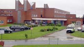 The exterior of Furness General Hospital
