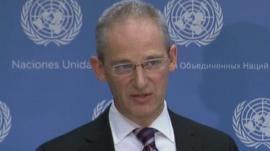 UN spokesman Martin Nesirky